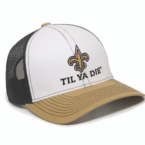 SAINTS Til Ya Die Mesh Back Hat (black/gold)