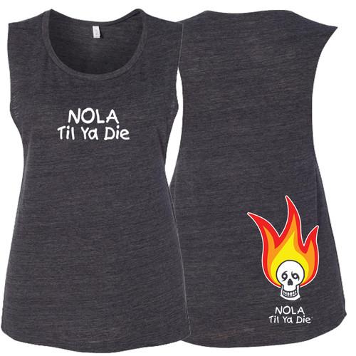 NOLA Til Ya Die Fire Women's Muscle Tank