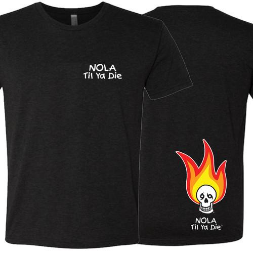 NOLA Til Ya Die Fire Unisex Tee (black)
