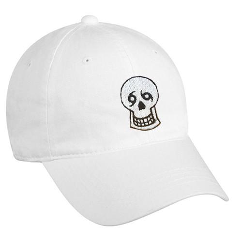 Skull Dad Hat (white)