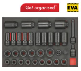 "TTEISK33 3/4"" drive impact socket set"