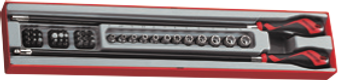 "TTXMD41N Flexible handle 1/4"" drive Socket and Screwdriver Bit Set"