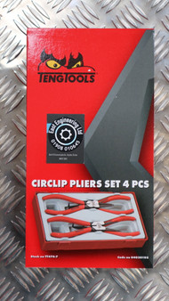 CIRCLIP PLIERS SET 4 PCS 7""