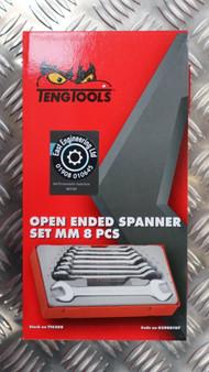 OPEN ENDED SPANNER SET MM 8 PCS