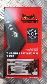 T HANDLE SET HEX MM 7 PCS