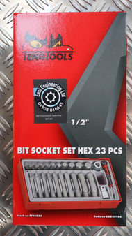 BIT SOCKET SET HEX 23 PCS 1/2""