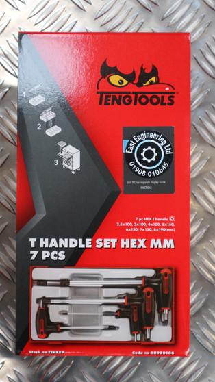T HANDLE SET HEX MM 7 PCS