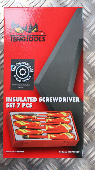 INSULATED SCREWDRIVER SET 7 PCS