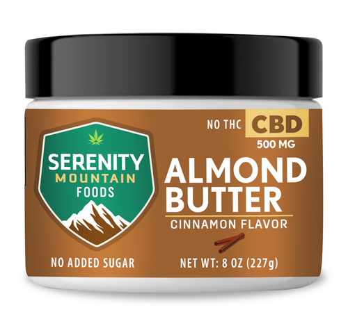 CBD Almond Butter with 500 mg CBD
