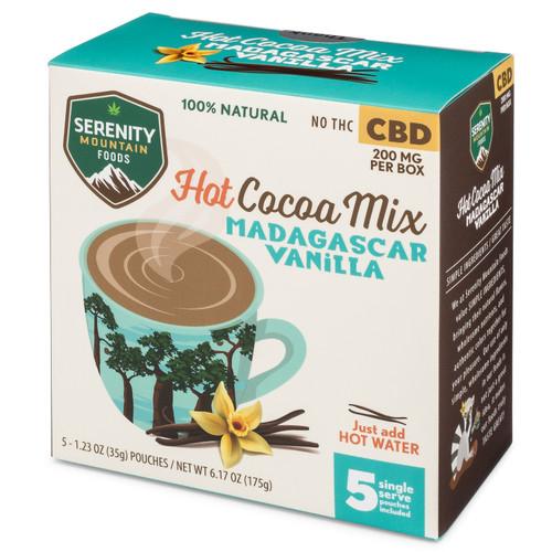 CBD Hot Cocoa Mix - Madagascar Vanilla flavor - CBD Hot Chocolate