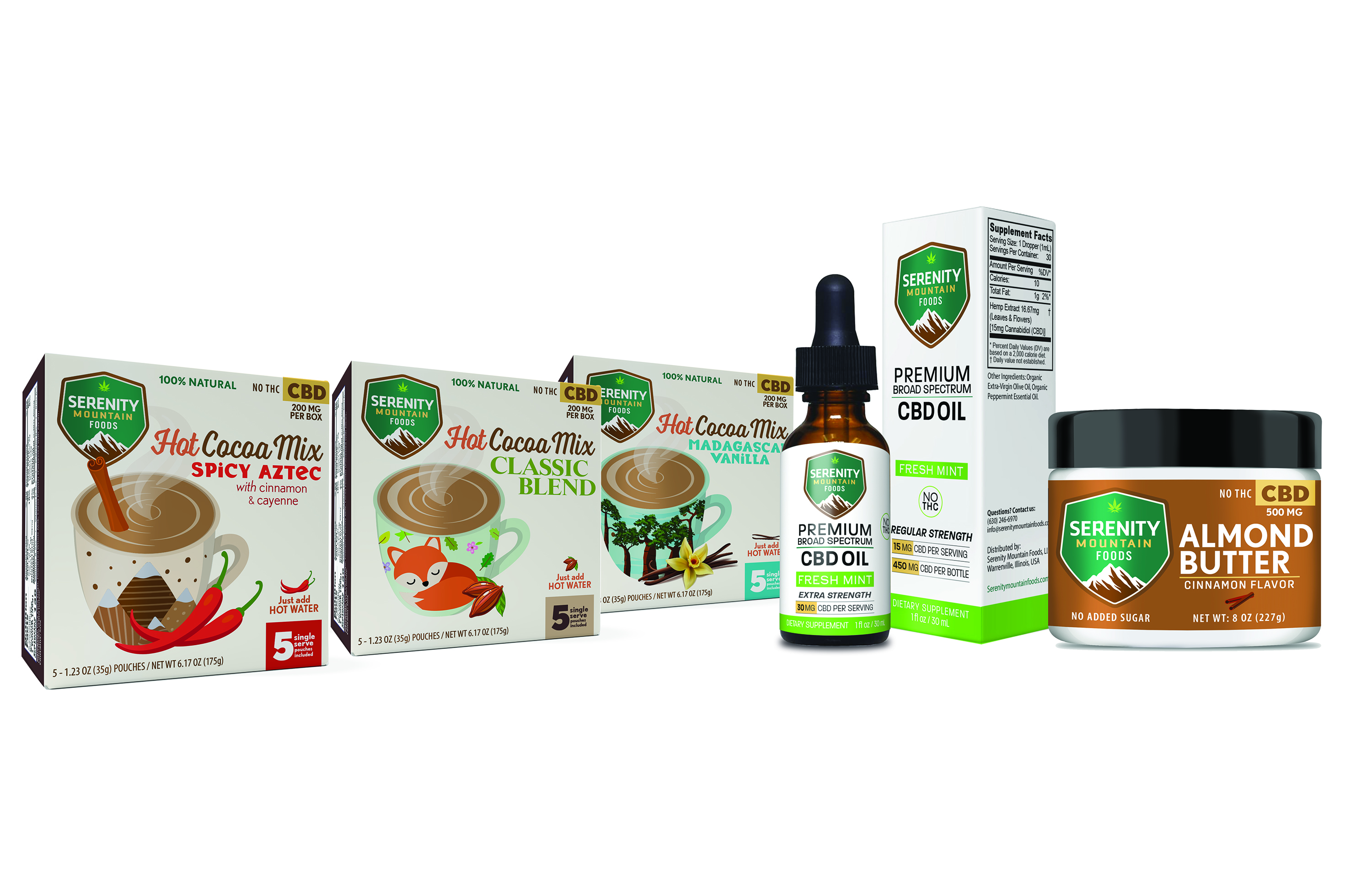 Serenity Mountain CBD Products