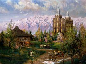 The House of the Lord Medium Giclée Print Studio Sale