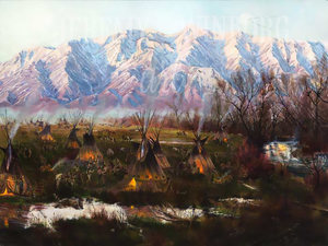 Cache Valley Encampment Giclée Print