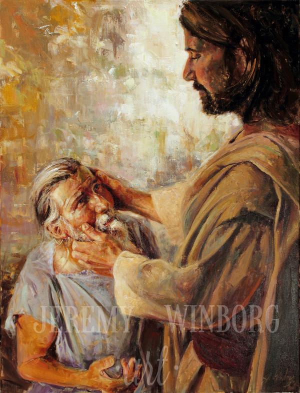The Blind Man of Bethsaida Original (SOLD)
