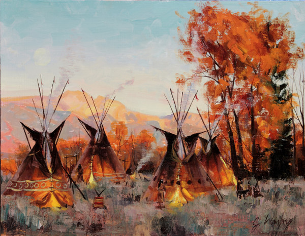 Sleeping Indian Original (SOLD)