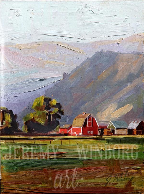 Spring Creek Ranch Original Oil Study (SOLD)