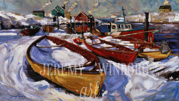 Peggy's Cove Winter Original
