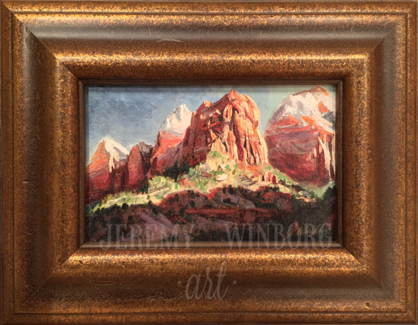Zion Shadow Original Oil Study (SOLD)