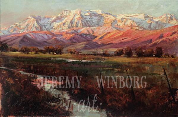 Midway Pasture Giclée Print