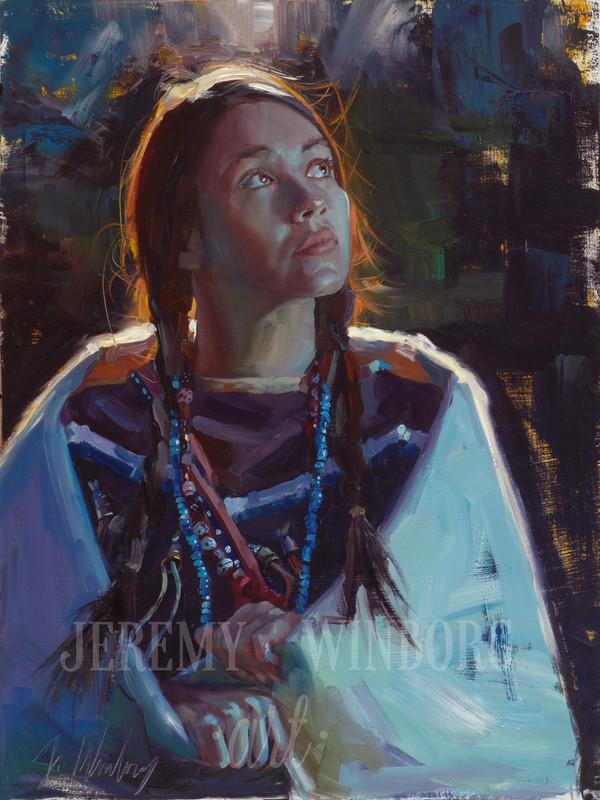 Jenny of the Tetons Original Oil Study (SOLD)