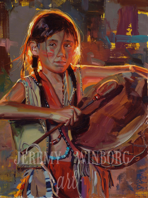 Little Drummer Brave Original Oil Study (SOLD)