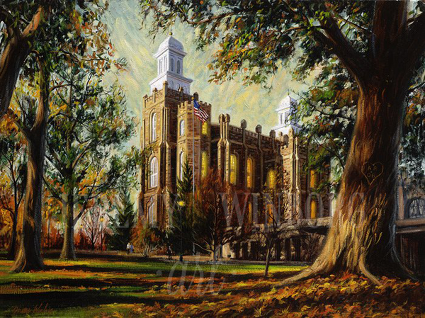 Logan Temple Autumn Giclée Print