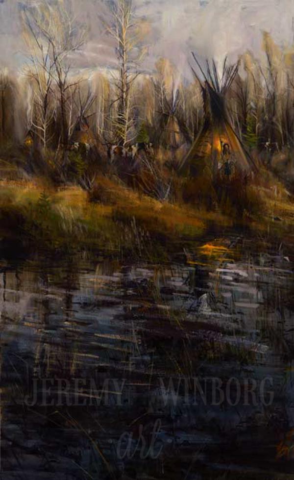 Riverside Encampment Giclée Print