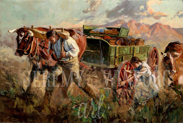 Crossing the Sandridge Giclée Print