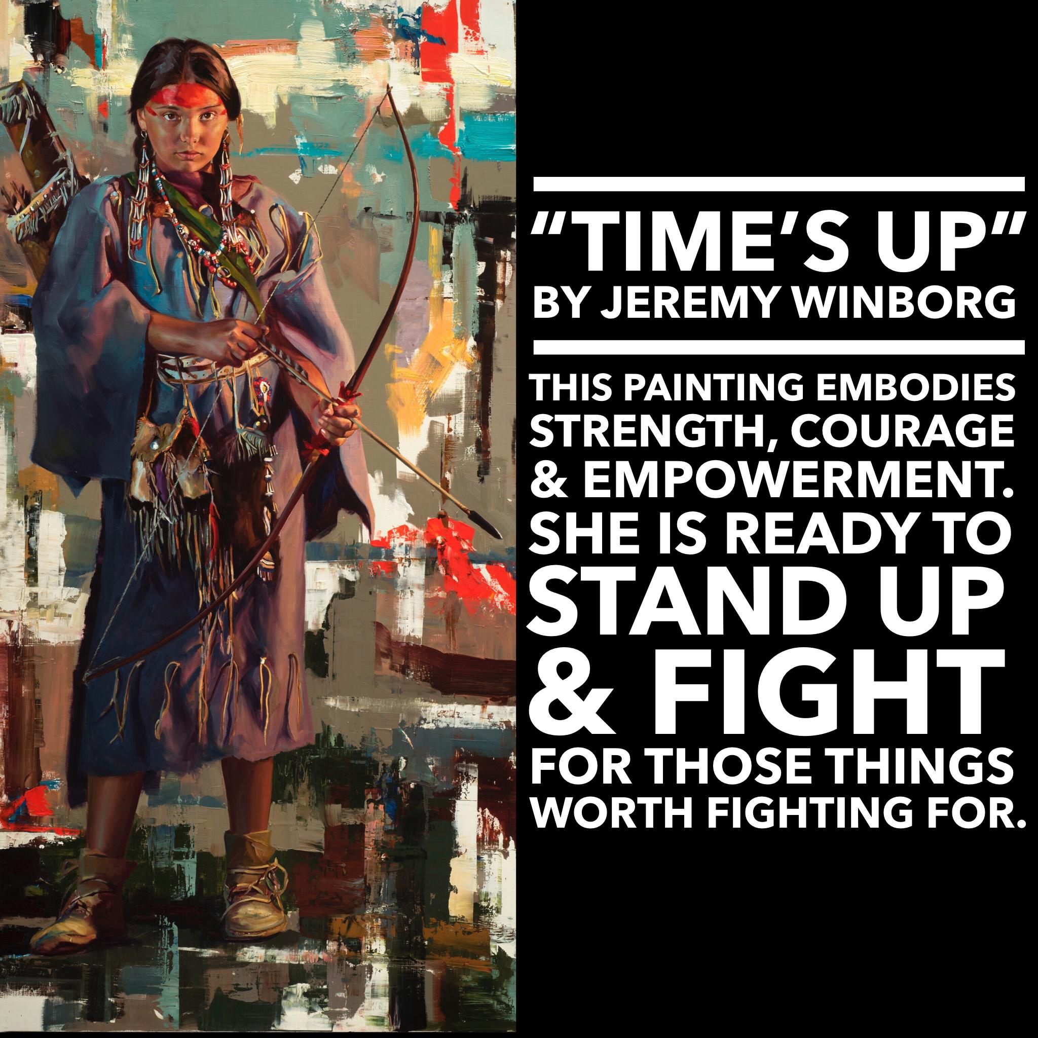 Jeremy Winborg Time's Up Coeur d'Alene Art Auction