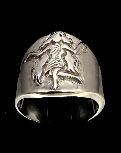 Sterling silver Virgo ring Zodiac Horoscope symbol Earth Star sign high polished 925 silver