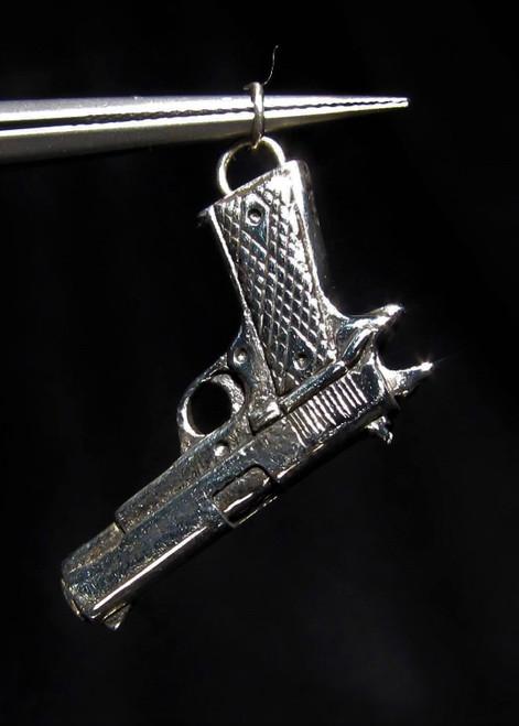 Sterling silver Handgun Pendant Desert Eagle Magnum automatic 925 silver