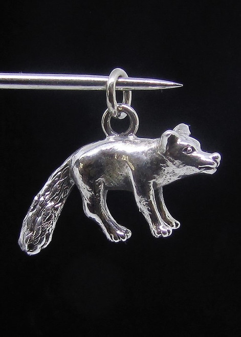 Sterling silver Animal Pendant Little Fox high polished 925 silver