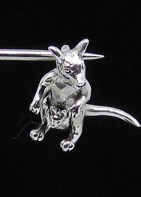 Cute Sterling silver Animal Pendant Kangaroo with Baby high polished 925 silver