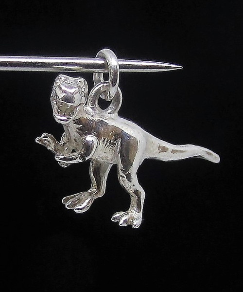 Sterling silver Animal pendant T Rex Dinosaur ancient Reptile Predator high polished 925 silver