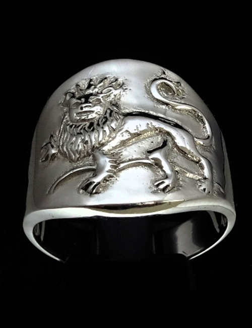 Sterling silver Zodiac ring Leo The Lion Horoscope high polished 925 silver