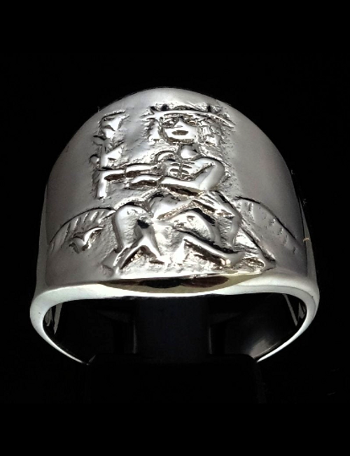 Sterling silver Zodiac ring Virgo The Ambitious Virgin high polished 925 silver