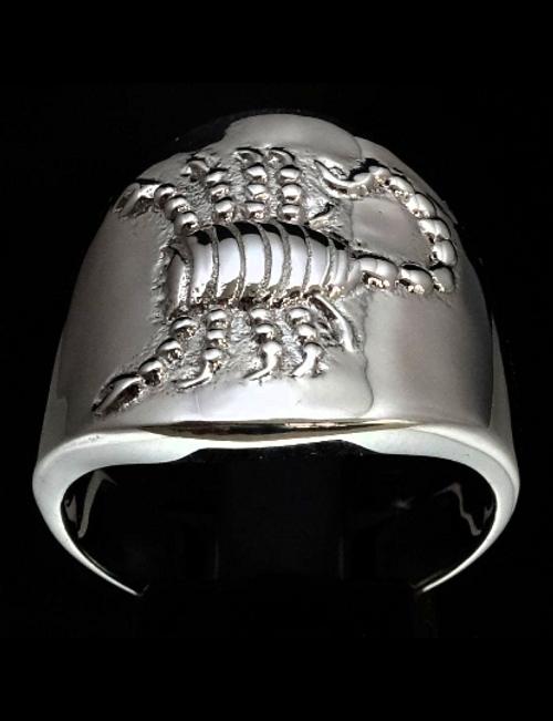 Sterling silver Zodiac ring Scorpio The Passionate Scorpions Horoscope 925 silver