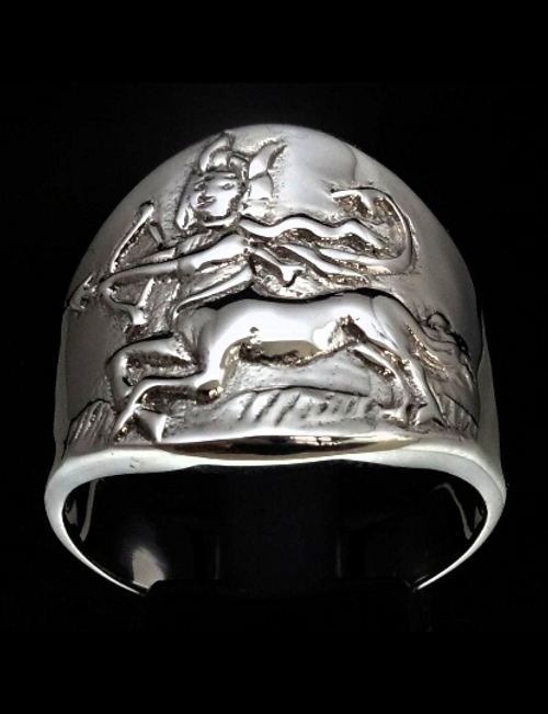 Sterling silver Zodiac ring Sagittarius The Philosophical Archer Horoscope 925 silver