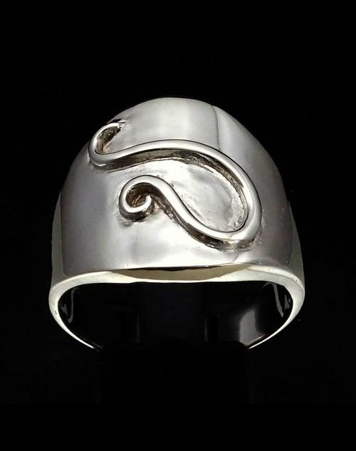 Sterling silver ring Leo Lion Zodiac symbol high polished 925 silver