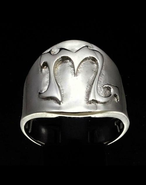 Sterling silver ring Scorpio Zodiac symbol high polished 925 silver