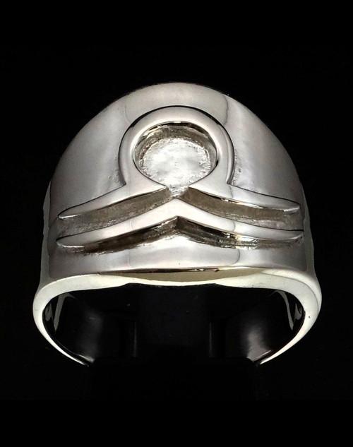 Sterling silver ring Libra Zodiac symbol high polished 925 silver
