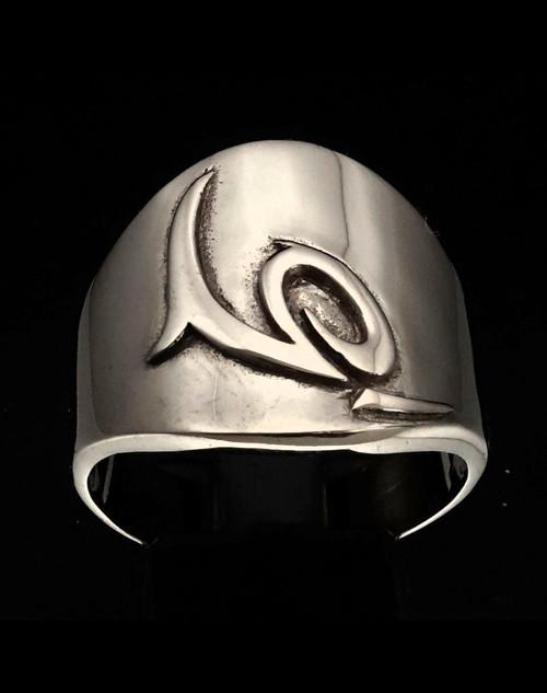 Sterling silver ring Capricorn Zodiac symbol high polished 925 silver