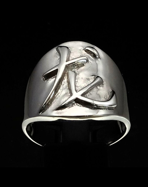 Sterling silver Zodiac ring Dragon Chinese letter symbol high polished 925 silver
