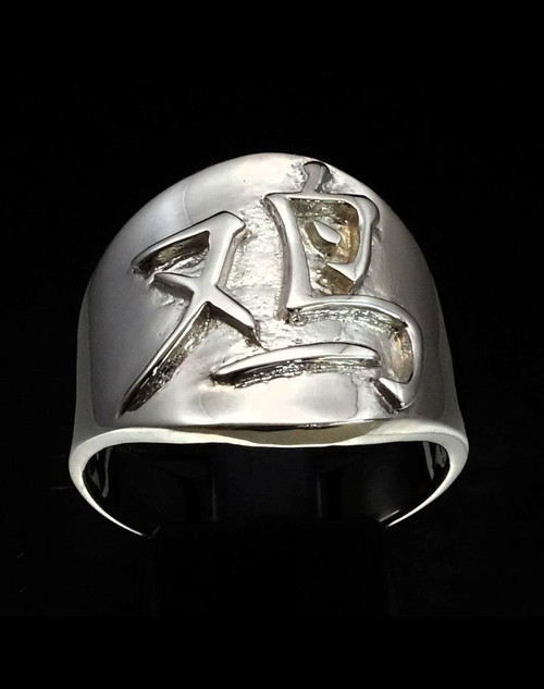 Sterling silver Zodiac ring Rooster Chinese letter symbol high polished 925 silver