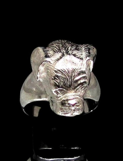 Sterling silver Dog lover ring Boxer Breed Dog high polished 925 silver unisex animal ring