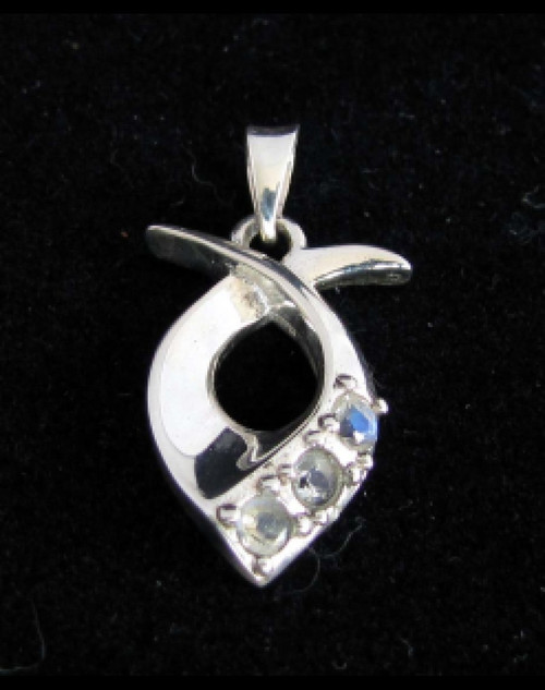 Sterling silver Gemstone pendant with 3 sparkling little Blue Fire Moonstones