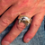 Sterling silver ring Vampire Fang Mouth Big Theeth Horror Demon 925 silver