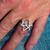 Sterling silver ancient symbol ring Aquarian Star Atlantis  Unicursal Hexagram 925 silver