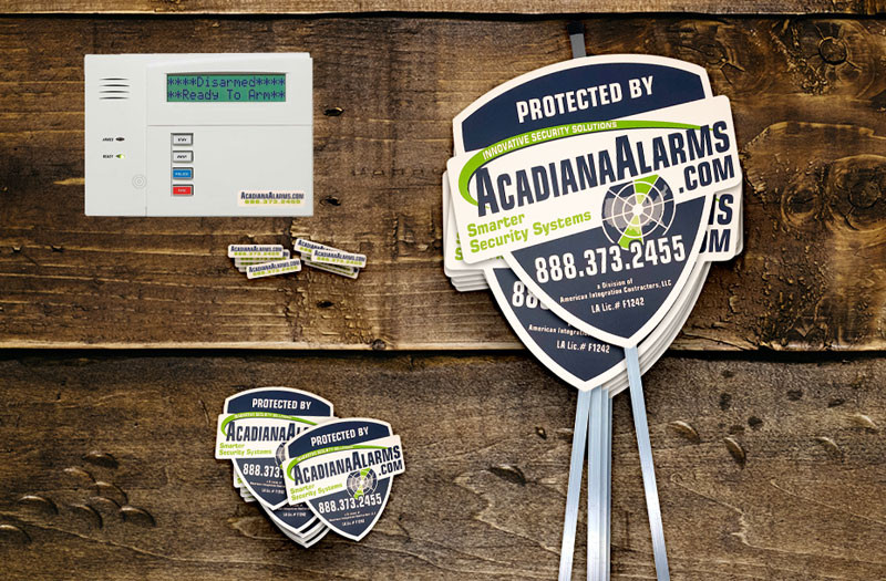 security yard signs and security stickers