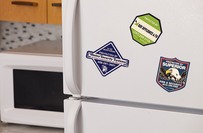 alarm company fridge magnets
